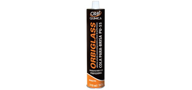Orbiglass PU 55 Cola Parabrisa 310ml – Preto